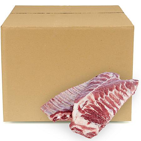 Pork Spareribs, Bulk Wholesale Case (3-4 bags per box, priced per pound)