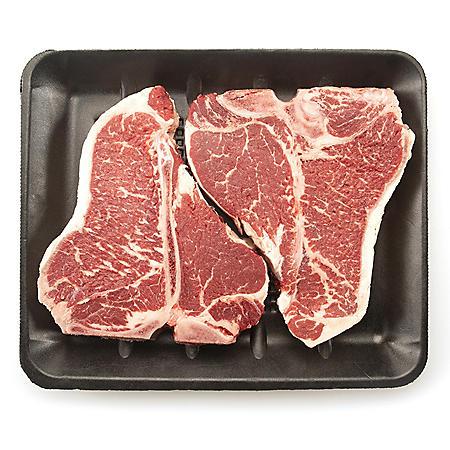 USDA Choice Angus Beef Loin T-Bone Steak (priced per pound)