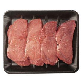 USDA Choice Angus Beef Bottom Sirloin Ball Tip Steaks (4 steaks per tray, priced per pound)
