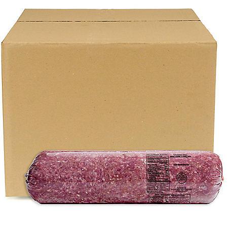 90% Lean / 10% Fat, Ground Beef Chub, Bulk Wholesale Case (priced per pound)