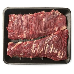 Member's Mark Angus Select Beef Inner Skirt, 2 piece (priced per pound)