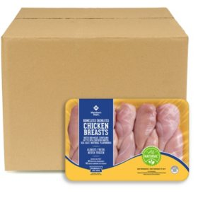 Member's Mark Boneless Skinless Chicken Breasts, Bulk Wholesale Case (priced per pound)