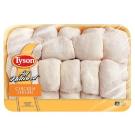 Tyson Skin-On Bone-In Chicken Thighs (priced per pound)