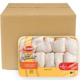 Case Sale: Tyson Chicken Bone-In Thighs (12 ct. /6 pkgs., Priced Per Pound)