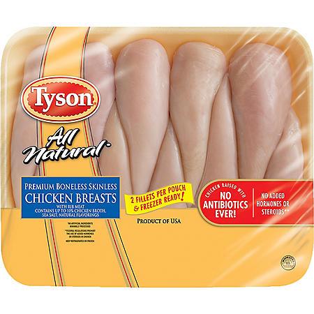Tyson Premium Boneless Skinless Chicken Breasts (priced per pound)