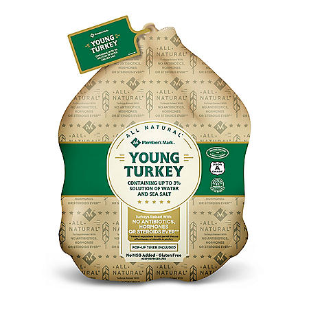Member's Mark All-Natural Whole Turkey (10-16 lbs)