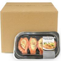 Fresh Atlantic Salmon with Seafood Stuffing, Bulk Wholesale Case (priced per pound)