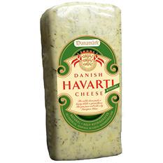 Danamark Havarti Cheese with Dill Cheese (Priced Per Pound)