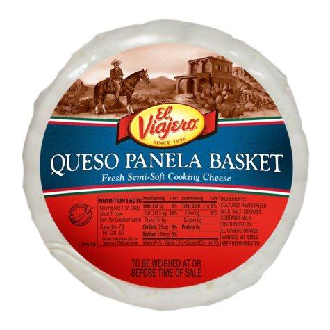 El Viajero Queso Panela Basket (priced per pound)