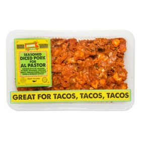 Calle Sabor Seasoned Diced Pork for Al Pastor (priced per pound)