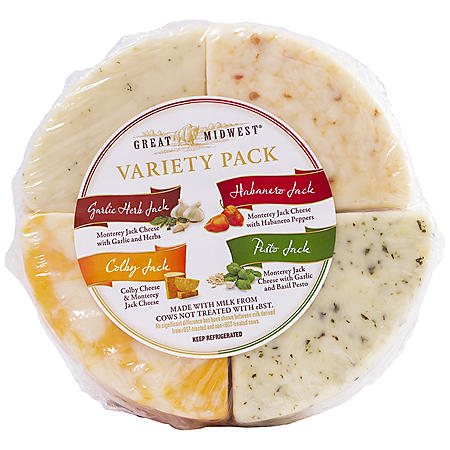 Great Midwest 4-Way Variety Wheel Cheese (Priced Per Pound)