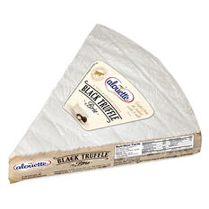 Alouette Double Creme Brie Wedge with Black Truffles (Priced Per Pound)