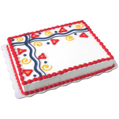 1/2 Sheet Decorated Buttercreme Cake