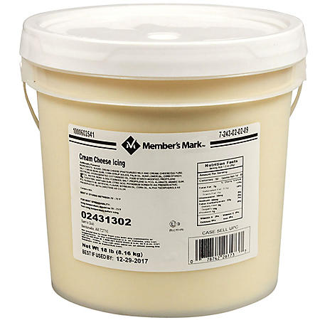 Member's Mark Cream Cheese Icing, Bulk Wholecase Case (18 lbs.)
