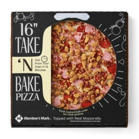 "Member's Mark 16"" Take 'N Bake Four Meat Pizza"
