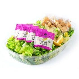 Caesar Salad With Dressing and Lemon (serves 4)
