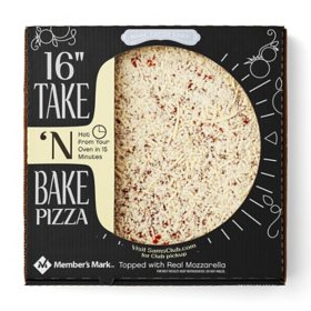 "Member's Mark 16"" Take 'N Bake Cheese Pizza"