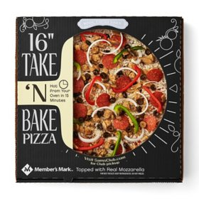 "Member's Mark 16"" Take 'N Bake Deluxe Pizza"