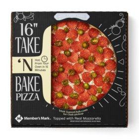 "Member's Mark 16"" Take 'N Bake Pepperoni Jalapeno Pizza"