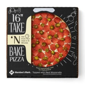 "Member's Mark 16"" Take 'N Bake Pepperoni Jalapeno Pizza"