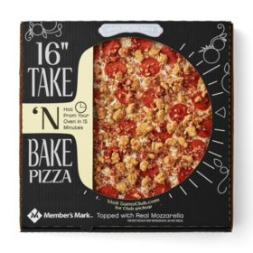 "Member's Mark 16"" Take 'N Bake Three Meat Pizza"