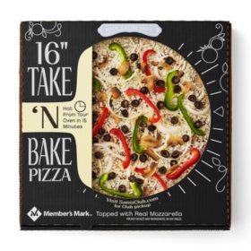 """Member's Mark 16"""" Take 'N Bake Veggie Pizza"""