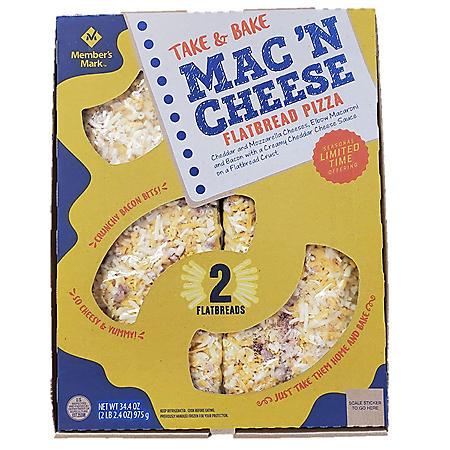 Member's Mark Mac 'N Cheese Flatbread Pizza (2 flatbreads)