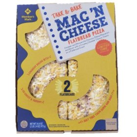 Member's Mark Mac 'N Cheese Flatbread Pizza (2 flatbreads)