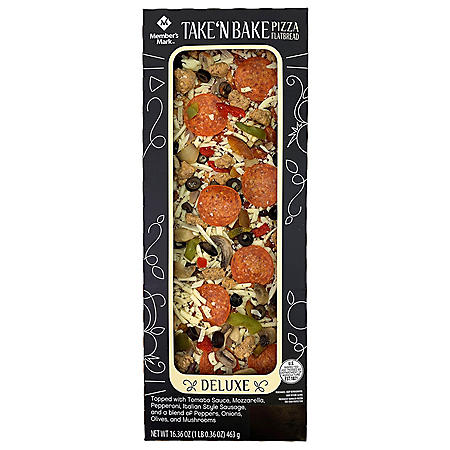 Member's Mark Take 'N Bake Deluxe Flatbread Pizza (16.36 oz.)