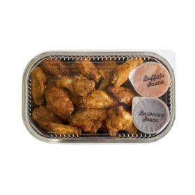 Oven Roasted Wings with Honey BBQ and Buffalo Sauces (priced per pound)