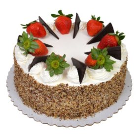 "Member's Mark 10"" Tres Leches Style Cake with Fresh Strawberries"