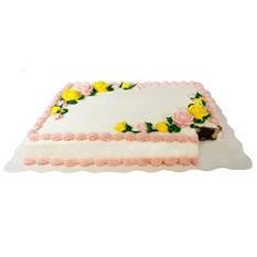 Member's Mark Half Sheet Marble Cake with White Whipped Icing