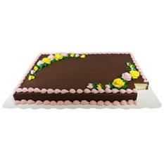 Member's Mark Full Sheet White Cake with Chocolate Buttercream