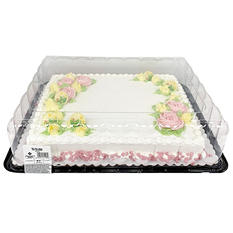 Member's Mark Half Sheet White Cake with Chocolate Buttercream
