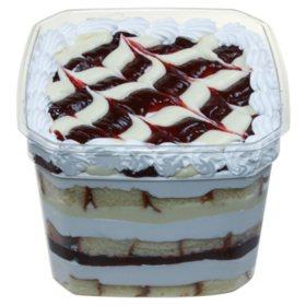 Strawberry Cream Cheese Scoop Cake