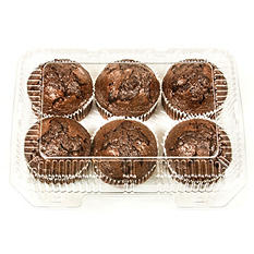 Daily Chef Double Chocolate Muffins (6 ct.)