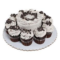 "Member's Mark Cookies 'N Crème 5"" Chocolate Cake With 10 Chocolate Cupcakes"