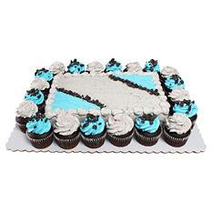 Member's Mark Cookies 'N Creme Quarter Sheet Chocolate Cake With 20 Chocolate Cupcakes
