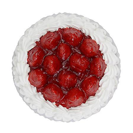 "Member's Mark 10"" Single Layer Fresh Strawberry Topped Cake"