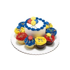 Remarkable Members Mark 5 Balloon Cake With 10 Cupcakes Sams Club Funny Birthday Cards Online Alyptdamsfinfo