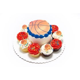 "Member's Mark 5"" Sport Cake with 10 Cupcakes"