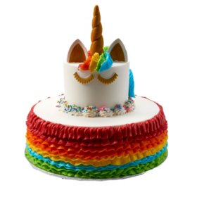 Peachy Members Mark 2 Tier Unicorn Cake Sams Club Funny Birthday Cards Online Alyptdamsfinfo