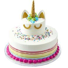 Member's Mark 2 Tier Mixed White and Chocolate Unicorn Cake