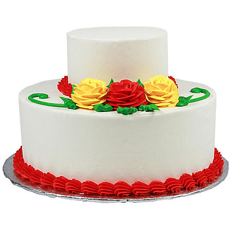 Member's Mark 2 Tier Rose Cake