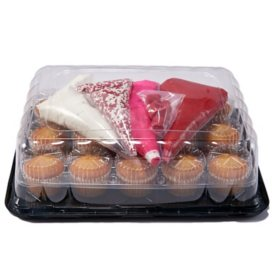 Valentine's Day DIY Cupcakes Kit, White or Chocolate (15 ct.)