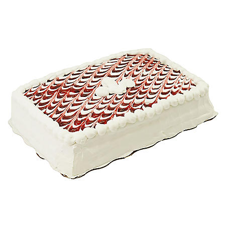 Member's Mark Quarter Sheet Tres Leches Style Cake with Strawberry Filling