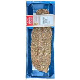Member's Mark Fresh Atlantic Salmon  Fillet with Rustic Herb Seasoning (priced per pound)