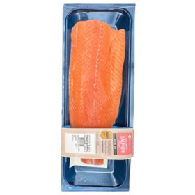 Member's Mark Farm-Raised Atlantic Salmon, Skin-On Fillet (priced per pound)