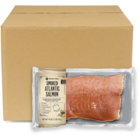 Member's Mark Cold Smoked Atlantic Salmon, Bulk Wholesale Case, (18 pks.)