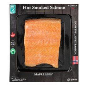 Foppen Hot Smoked Maple-Flavored Norwegian Salmon (priced per pound)